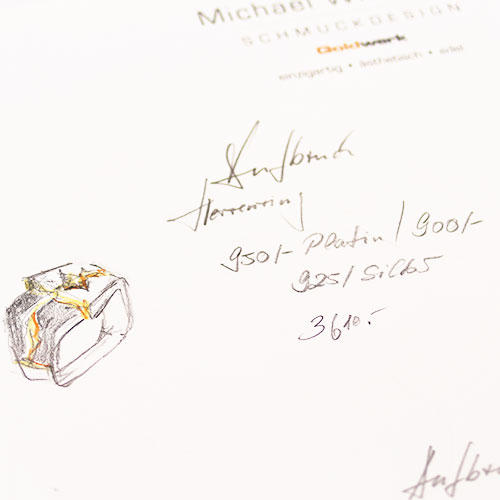 Schmuckdesign Kette schwarze Diamanten